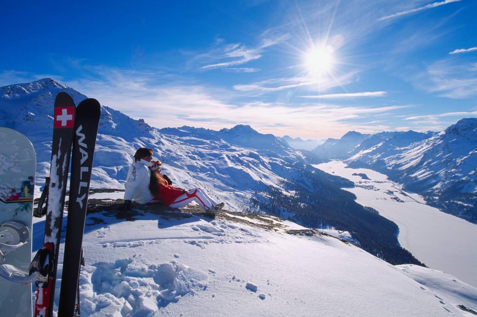 швейцария горные лыжи фото торговых